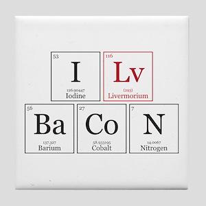 I Lv BaCoN [I Love Bacon] Tile Coaster